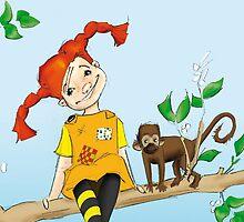 Pippi Langstrumpf by CarolinWeidemann