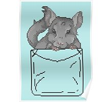 Pixel Pocket Chinchilla Poster