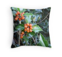 Merry Berries Throw Pillow