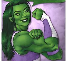 She Hulk - We Can Do It! by noisymouse