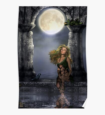 Enchanted By The Moon Poster
