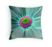 Colorful Daisy Throw Pillow