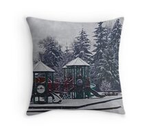 Abandoned Sentinels Throw Pillow