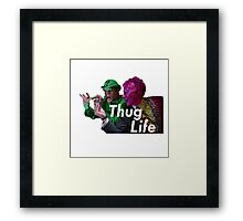 The Riddler and TwoFace- Thug Life Framed Print