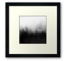 Monotone Pixel Gradient Framed Print