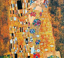 Gustav Klimt - The kiss  by Selfcontrol