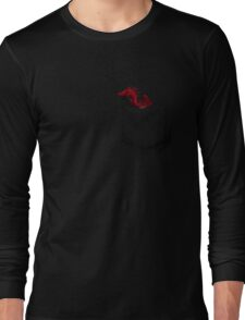 Little Dragon In My Pocket 1 - Red Long Sleeve T-Shirt