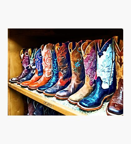 Cowboy Boots Photographic Print
