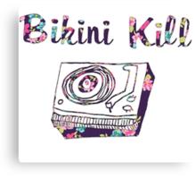 Bikini Kill Purple Floral Riot Grrrl Feminist Design Canvas Print