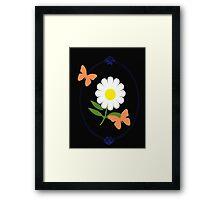Daisy Butterfly Frame Framed Print