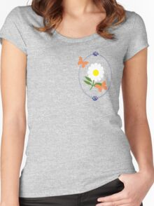 Daisy Butterfly Frame Women's Fitted Scoop T-Shirt