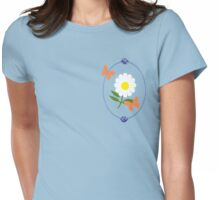 Daisy Butterfly Frame Womens Fitted T-Shirt