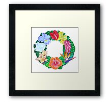 Tropical Wreath Framed Print