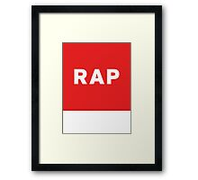 Rap | Lust Brick Framed Print