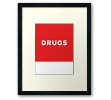 Drugs | Lust Brick Framed Print