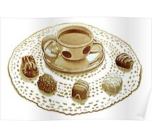 Sicilian Espresso and Chocolate Lace Poster