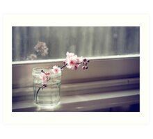 windowsill. first sign of spring. Art Print