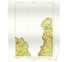 Maine USGS Historical Map Arnold Pond 460111 1935 62500 Poster