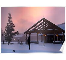 Old Faithful Snowlodge Poster