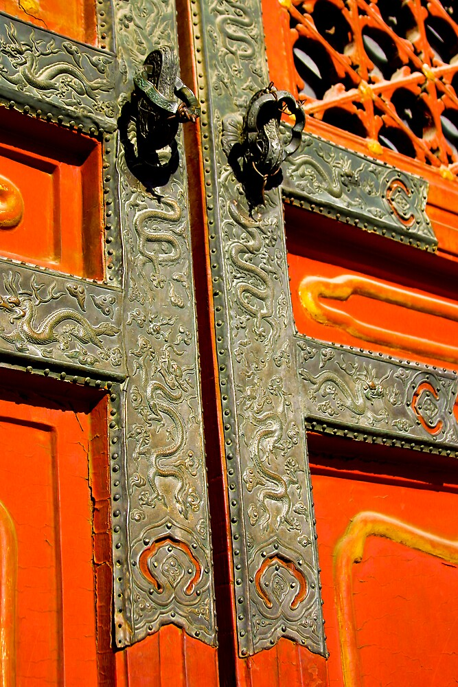 Gate at the Forbidden City by Jeff Harris