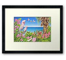 Australian Pink Galahs Framed Print