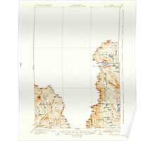 Maine USGS Historical Map Arnold Pond 460112 1935 62500 Poster