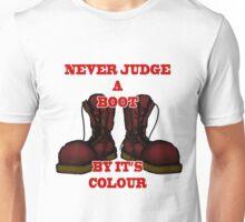 Never Judge a Boot by it's Colour - plain Unisex T-Shirt