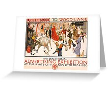 'London Underground' Vintage Poster (Reproduction) Greeting Card