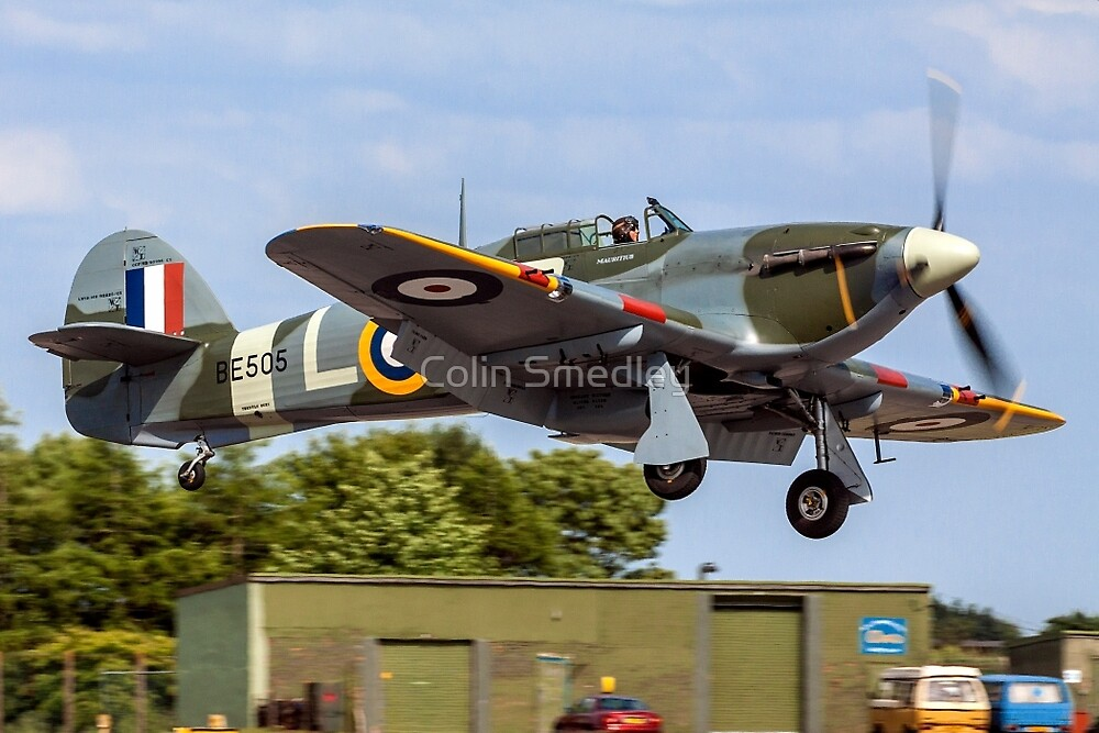 Hawker Hurricane IIB BE505/XP-L G-HHII by Colin Smedley