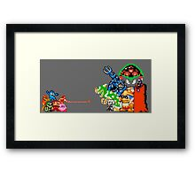 Nintendo Fight Framed Print