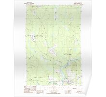 Maine USGS Historical Map Ashland 104875 1986 24000 Poster