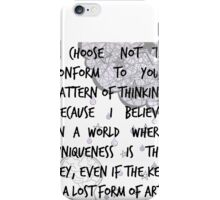 The Key is a Lost Form of Art iPhone Case/Skin
