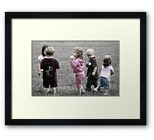 Picking teams. Framed Print