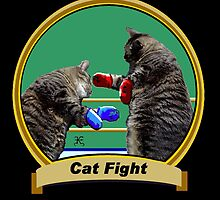 Cat Fight- 'Kittys on the Canvas' by Kevyn Paul Eisenman