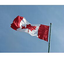 Flag waving Photographic Print
