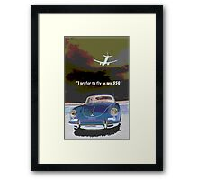 Flying in my 356 Framed Print