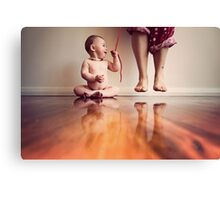 {she has got me wrapped around her little finger} Canvas Print
