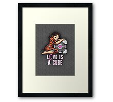 L0VE is a CUBE (Portal 1 ver.) Framed Print