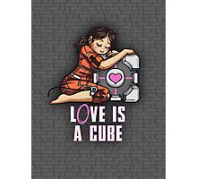 L0VE is a CUBE (Portal 1 ver.) Photographic Print