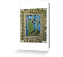 Orchard Of Frog Boxes - Framed Abstract Greeting Card