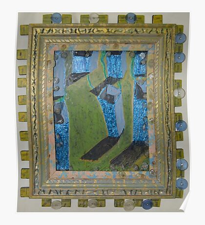 Orchard Of Frog Boxes - Framed Abstract Poster