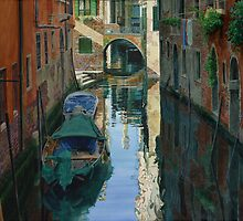 Two Bridges, Venice by Freda Surgenor