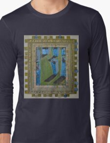 Orchard Of Frog Boxes - Framed Abstract Long Sleeve T-Shirt