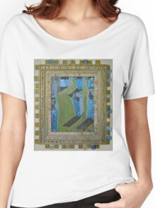 Orchard Of Frog Boxes - Framed Abstract Women's Relaxed Fit T-Shirt