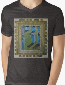 Orchard Of Frog Boxes - Framed Abstract Mens V-Neck T-Shirt