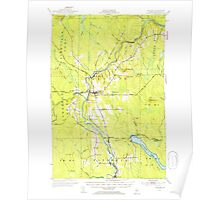 Maine USGS Historical Map Ashland 460118 1953 62500 Poster