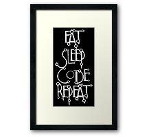 developer eat sleep code repeat Framed Print