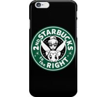 2nd Starbucks to the Right iPhone Case/Skin