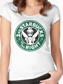 2nd Starbucks to the Right Women's Fitted Scoop T-Shirt