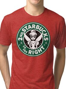 2nd Starbucks to the Right Tri-blend T-Shirt